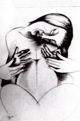Schmerz - 4 Hände  1969    51 x 41