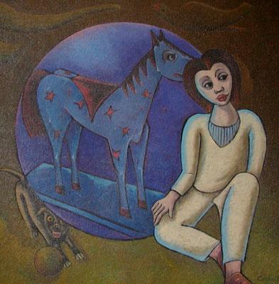 Träumendes Kind  1992  105 x 105