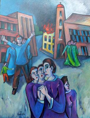 Brand der Synagoge I  (9.November  )  2006  85 x 110