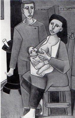 Stillende Frau und mann  1953    107 x 160