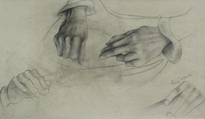 Studie Hände I  1948  17,5 x 34 ( Blei )