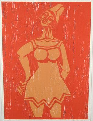 Weiblicher Harlekin  1983  40 x 55      Platte vorhanden