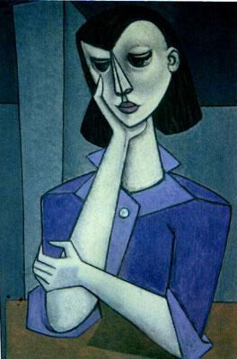 Nachdenkende Frau  1955