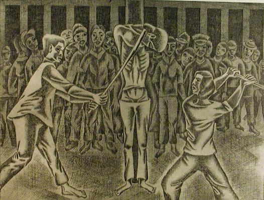 Folter  1977  39,5 x 30 ( Ätz )