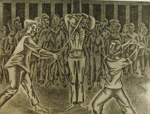 Folter  1977  39,5 x 30 ( Ätz )                  ( 5 )