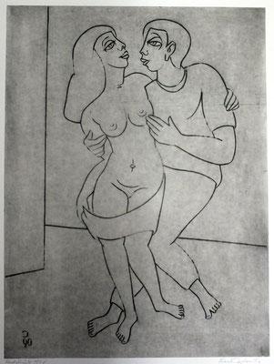 Stehendes Paar I  1990  39,5 x 54,5