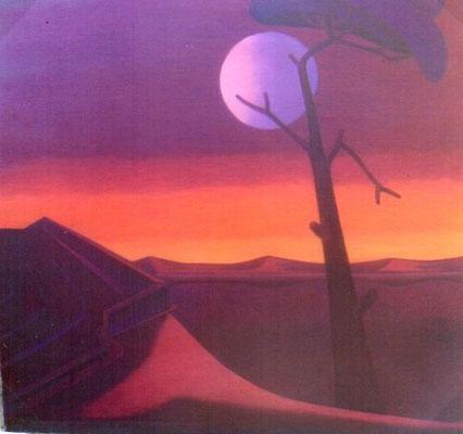 Abendlandschaft mit Baum  1980    105 x 100