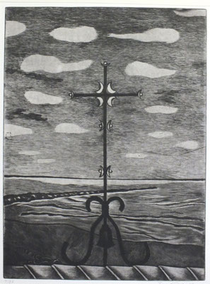 Matisse-Kreuz ( Südfrankreich )  1976  30 x 40