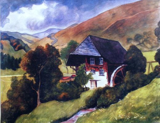Mühle im Schwarzwald  1953    60 x 47