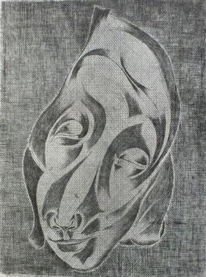 Tante Mina  1977  29 x 39 ( Ätz )           ( 2 )