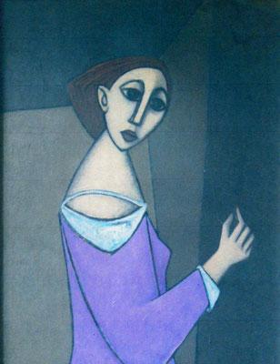Junges Mädchen im lila Kleid  1955    79 x 105