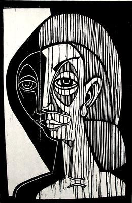 Großer Mädchenkopf  1978  39 x 60