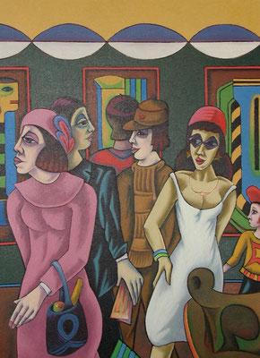 In der Ausstellung  1997  95 x 130