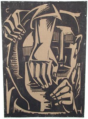 Komposition  1965  47 x 64   Platte vorhanden
