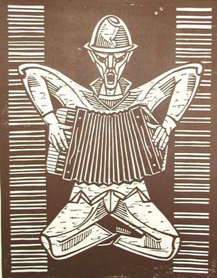 Akkordeonspieler  1978  49,5 x 63,5