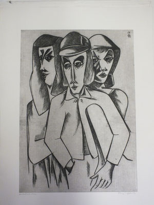 Junge Gruppe  1990  40 x 56            ( 3 )