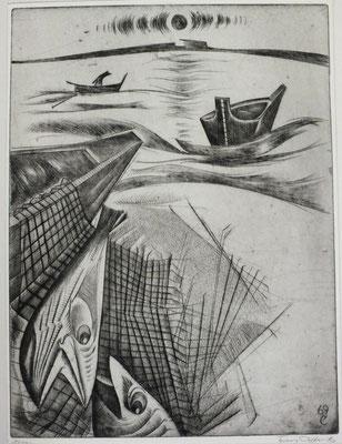 Fischerboot  1969  30 x 40