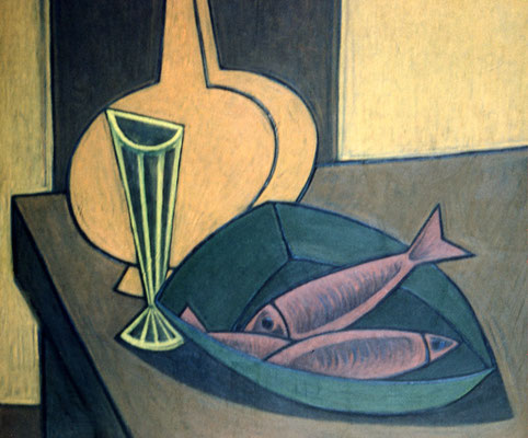 Stillleben mit Fischen  1957  68 x 66