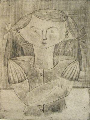 Trotziges Mädchen   1954   24 x 31,5        ( 3 )