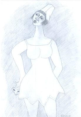Weiblicher Harlekin  1981