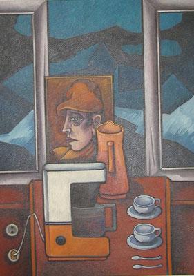 Stillleben mit Kaffeetassen  1986  82 x 110