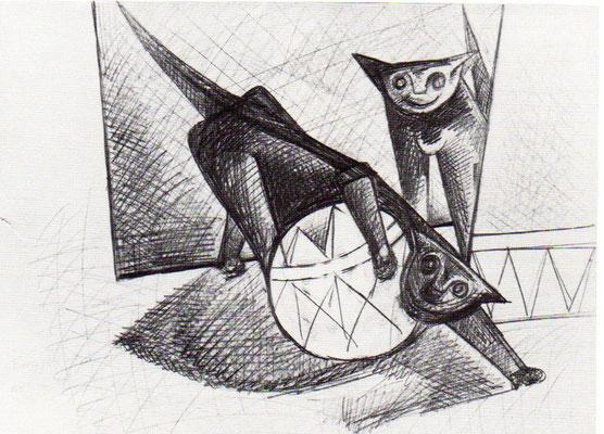 Spielende Katzen  1978