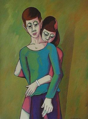 Junges Paar  2002  75 x 100