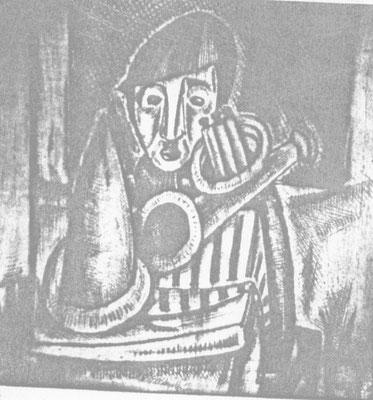 Junge mit Trompete  1960