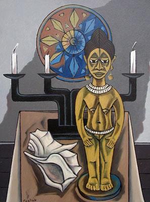 Afrikanisches Stillleben  2001  75 x 100