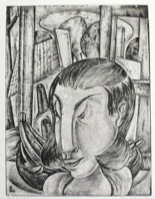 Am Fenster  1960  29,5 x 39,5                ( 2 )
