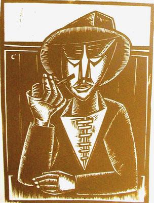 Pfeifenraucher  1959  27 x 37