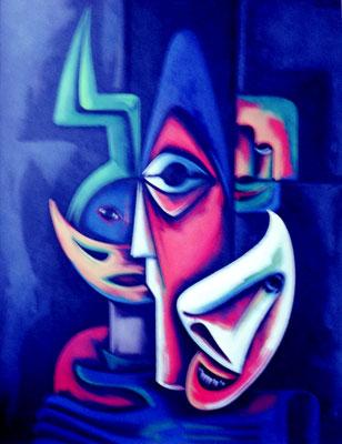 Dunkle Masken  1970    90 x 110