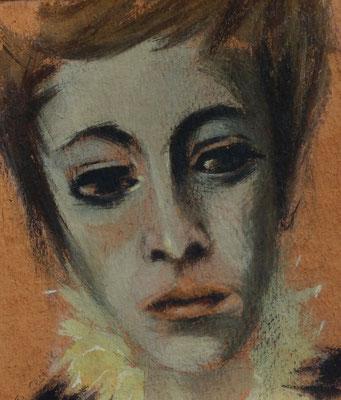 Junge Frau ( Anneliese )  1947  17 x 20 ( Aquarell )