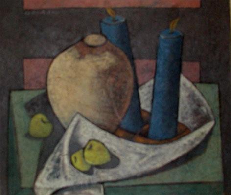 Stillleben mit Vase  1954  81 x 70