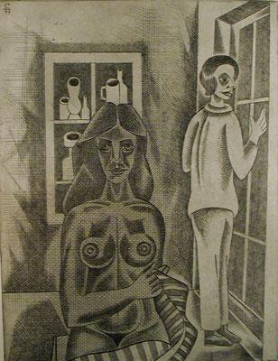 Im Raum  1981  30 x 39,5 ( Ätz )       ( 1 9