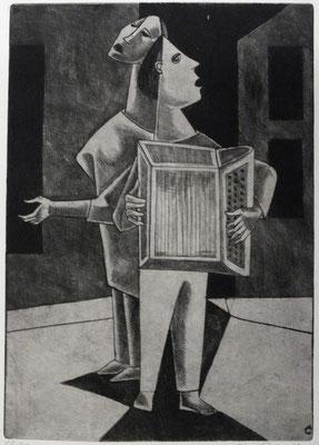 Straßenmusikanten II  1955  22 x 32                       ( 7 )