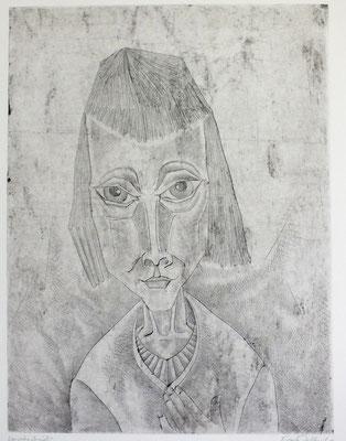 Frauenporträt  1970  29,5 x 39,5