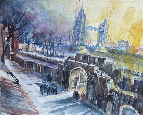 London_Towerbridge from the Tower_Aquarell 45x61 cm_2-2017