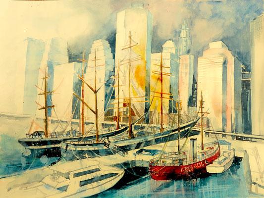 N.Y. Seaport Pier 17_36x48 cm