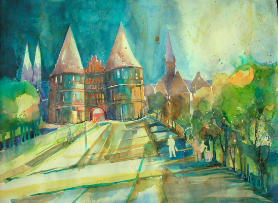 Holstentor in Lübeck_56x76 cm