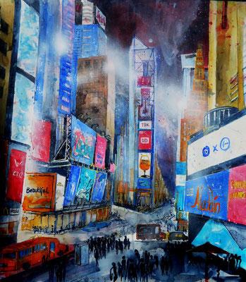 N.Y. Times Square bei Nacht 2_55x61 cm