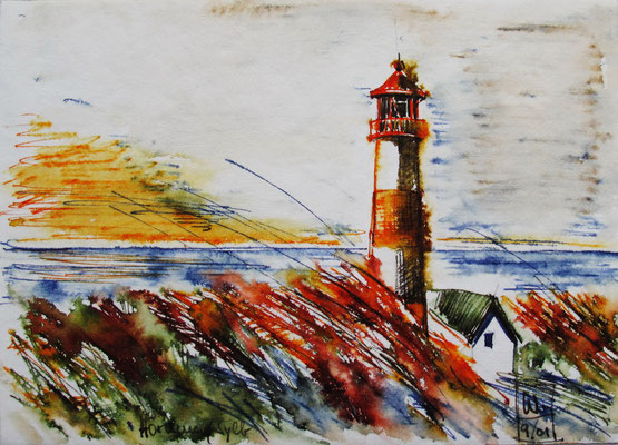 Leuchtturm Hörnum_Sylt_2001_15x20 cm