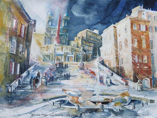 Rom_Spanische Treppe_36x48 cm