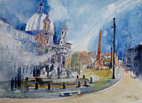 Rom_Piazza Navona_36x48 cm