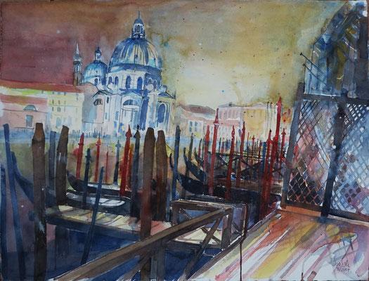 Venedig_Canal Grande mit Santa Maria della Salute_Aquarell 56x76 cm_4-2017