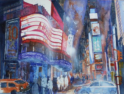 N.Y. Times Square bei Nacht 3_45 x 61 cm