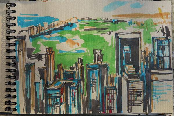 N.Y. Blick uptown vom Rockefeller Center