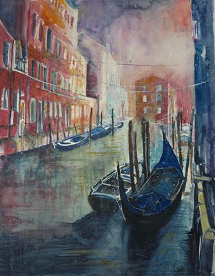 Venedig_Abendstimmung_Aquarell 50x65 cm_1-2018