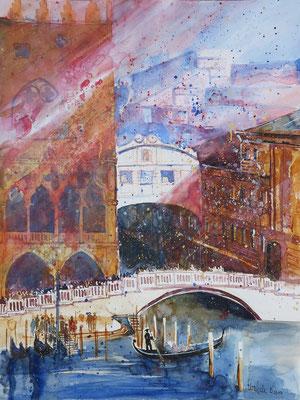 Venedig Seufzerbrücke_Aquarell 45x61 cm_3-2019