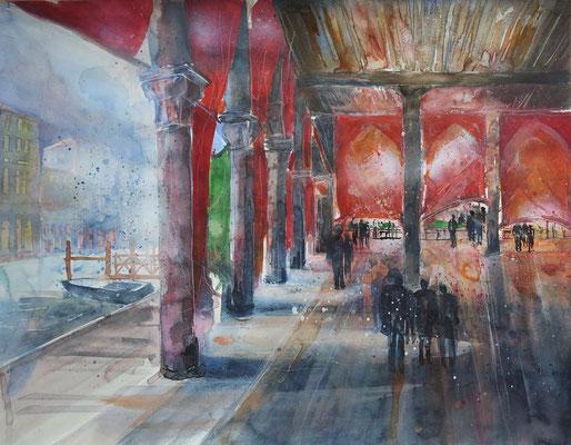 Venedig_Pescheria Giovedi_Aquarell 50 x 65 cm_7-2017